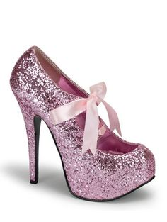 684b23d4b86 Pink Glitter Hidden Platform Pump s and wide range of Unique High Heel Sexy  at ElectriqueBoutique.com