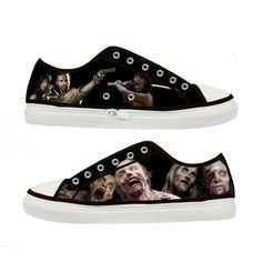 The Walking Dead Zombie woman canvas shoes - Size : US 9 EUR 40 Black | Tattabia - Clothing on ArtFire