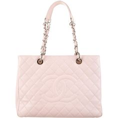 Chanel Grand Shopping Tote ($2,050) ❤ liked on Polyvore featuring bags, handbags, tote bags, quilted tote, pink tote bag, pink leather handbag, pink leather tote bag and quilted leather tote
