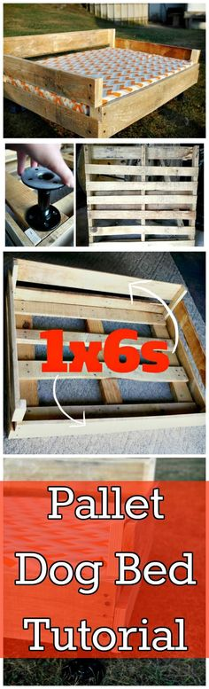 DIY Pallet Dog Bed Tutorial - 150 Best DIY Pallet Projects and Pallet Furniture Crafts - Page 40 of 75 - DIY & Crafts