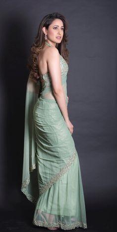 Pragya Jaiswal Photoshoot in Transparent Green Saree - Tolly Boost Beautiful Girl Indian, Most Beautiful Indian Actress, Beautiful Saree, Beautiful Eyes, Beautiful Actresses, Beautiful Women, Sonam Kapoor, Deepika Padukone, Saree Photoshoot
