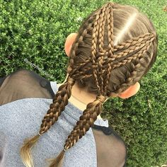 I created a video for these Criss-cross Braids over 2 years ago and the style continues to be recreated over and over! It's such a great easy style for sports and school that stays in well!