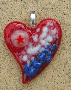 Check out this item in my Etsy shop https://www.etsy.com/listing/453221054/fused-glass-jewelry-pendant-heart-red