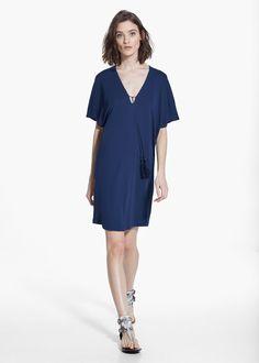 Tassel shift dress | MANGO