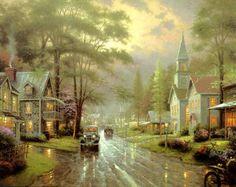 Hometown Evening - Thomas Kinkade
