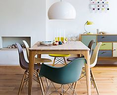 Love love love those chair and all of the colours.....get in my house please?