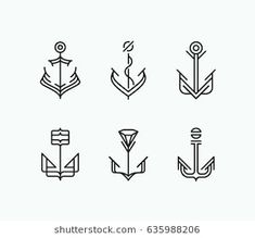 Find Abstract Monoline Geometry Anchor Symbols Set stock images in HD and millions of other royalty-free stock photos, illustrations and vectors in the Shutterstock collection. Anchor Drawings, Icon Tattoo, Abstrakt Tattoo, Anchor Icon, Negative Space Art, Bujo Doodles, Nautical Flags, Monogram Logo, Cross Stitch Embroidery