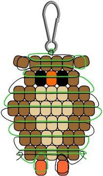 owl beady buddy pattern - Google Search