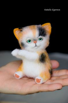 Needlefelted creature by Natalia Egorova Saint-Petersburg,Russia