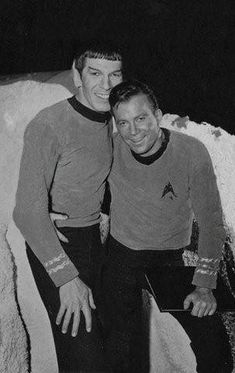 Mr. Spock and Captain Kirk #startrek