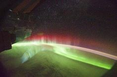 The Aurora Australis as seen from International Space Station.