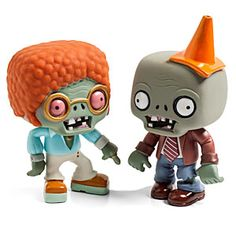 Plants vs. Zombies is one of the best selling games of all times. Or something. We like it. And these figures let us bring the fun into our own lives on our own desks. So there.