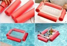 Pool Floating Cooler with pool noodles