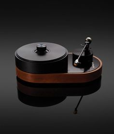 The visual simplicity of the AMG Viella conceals a marvel of German engineering: A 24-pound platter and components created from aircraft-grade aluminum help the machine play with exquisite precision. AMG Viella V12 turntable with optional wood skirt, $17,500