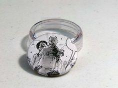 "Comic Book 1.5"" Button// Walking Dead// Zombies, $1.00"