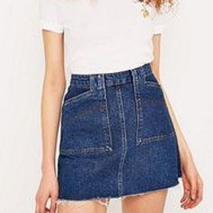 7fb364b99 Urban outfitters frayed denim skirt, excellent condition hardly worn as too  big for me,. Depop