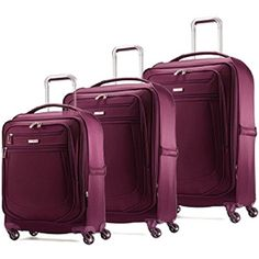 Luggage Sets Collections | Samsonite MIGHTlight 2 Three Piece Set GrapeWine ** Want additional info? Click on the image. Note:It is Affiliate Link to Amazon.