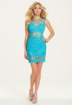 All Over Illusion Lace Applique Dress    Camillelavie.com
