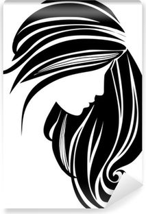 Hair Icon Wall Mural Pixers We Live To Change Hair Icon Hair Clipart Hair Vector