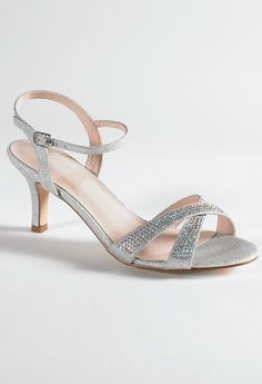 Low Heel Rhinestone Sandal from Camille La Vie and Group USA prom shoes Source by christinefaulst shoes low heeled Low Heel Sandals, Low Heel Shoes, Ankle Strap Heels, Ankle Straps, High Heels, Wedding Shoes Heels, Prom Heels, Flat Prom Shoes, Sandals Wedding