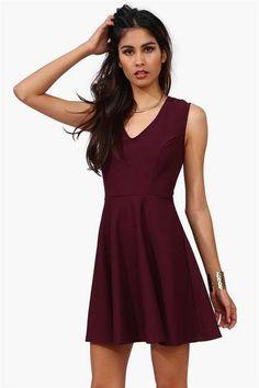 Wine Color Dress.