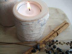 Birch tree candle holder by Swedish designer Mårten Lindquist of Plenty Design.