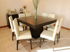 You can choose square dining table for 8 if you have big family in your home.
