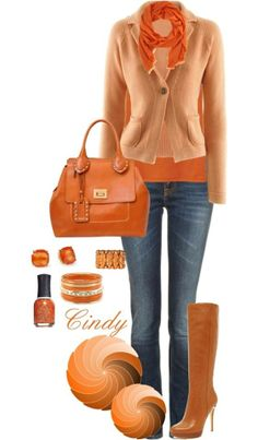 I'd love it with a dark brown boot, more like the button on sweater.