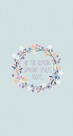 Be the Reason Someone Smiles Today ~ Andrea A. Elisabeth ✿⊱╮