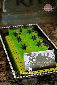 DRINKS creepy crawly jello shots