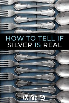 How can you tell if silver items - like servingware or a vintage tea set - are real Sterling silver or plated?