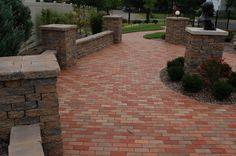 Clay paver patio #TopekaLandscape