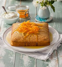 Sticky citrus poppy seed cake: The sharp tang of the lemon and orange syrup cuts through the sweetness of this cake, making it a brilliant finale to any afternoon tea, pic...