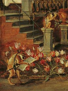 Satire on Tulip Mania (detail), Jan Brueghel the Younger, about 1640. Frans Hals Museum, Haarlem