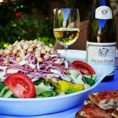 Gourmet Salad and a bottle of my Dad's (Jean Leon) favorite wine! Perfect way to start a meal! P.S. He created the first Chopped Salad EVER! ❤️ #jeanleon #lascala #originalchoppedsalad #lascalabeverlyhills #louisjadot #wine #winelover #foodandwine #eatfamous #feedyoursoull #nom #eaterla #lifeandthyme #myfab5 #foodoftheday #vscofood #laeats #eeeeeats #salad #forkyeah #eatingfortheinsta #foodgawker #lovejadot #nojeanleonwines