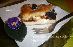 Tvarohový koláč so slivkovým lekvárom