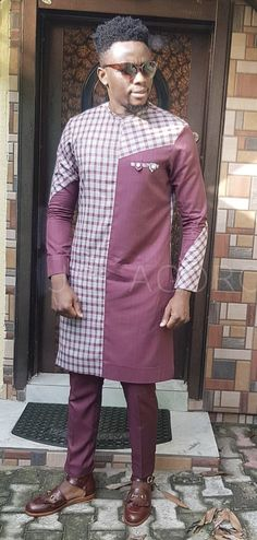 Jbagoro Couples African Outfits, African Dresses Men, Latest African Fashion Dresses, African Print Fashion, Asian Fashion, African Wear Styles For Men, African Shirts For Men, African Attire For Men, African Clothing For Men