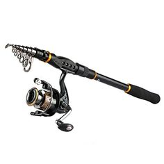 Goture Spinning Fishing Reel and Rod Combo for Bass Trout Salmon Fit Boat Travel Fishing - Portable Telescopic Fishing Gear  http://fishingrodsreelsandgear.com/product/goture-spinning-fishing-reel-and-rod-combo-for-bass-trout-salmon-fit-boat-travel-fishing-portable-telescopic-fishing-gear/  Goture elaborate collocation of fishing rod and reel combo equiped with a high-quality SWORD telescopic spinning rod and a new designed GT-V spinning reel for an agile and excellent fishin