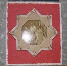 Tea bag folding as photo frame
