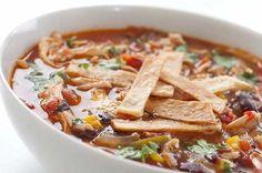 20-Minute Chicken Enchilada Soup | RecipeLion.com