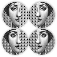 window Lina Cavalieri melamine plate by TheMadPlatters on Etsy