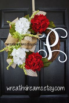 Hey, I found this really awesome Etsy listing at https://www.etsy.com/listing/216578545/hydrangea-grapevine-wreath-with-chevron