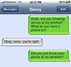 funny text - phone as a rock