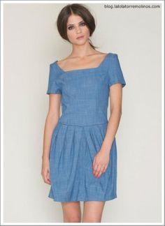 Dress Fiona Denim, by @PepaLoves, disponible en @LaLolaTorremolinos