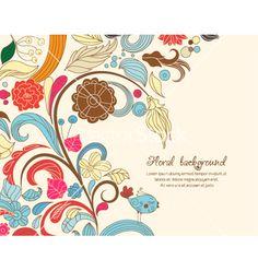 Floral vector on VectorStock®