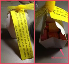 Starburst - cute saying, does not include a printable, but easy enough to copy and attach to any pkg