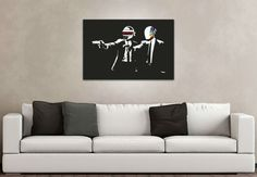 tableau Pop pulp fiction daft punk