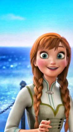 A really cute happy Princess Anna. I love how they even pronounce her name right and everything :)