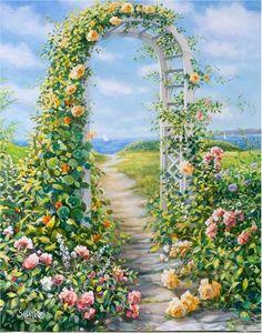 Susan Rios, cottage garden.