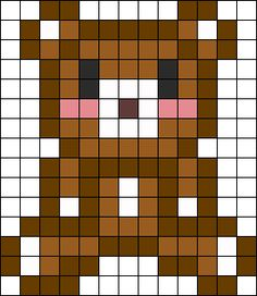 Little Bear Perler Bead Pattern / Bead Sprite
